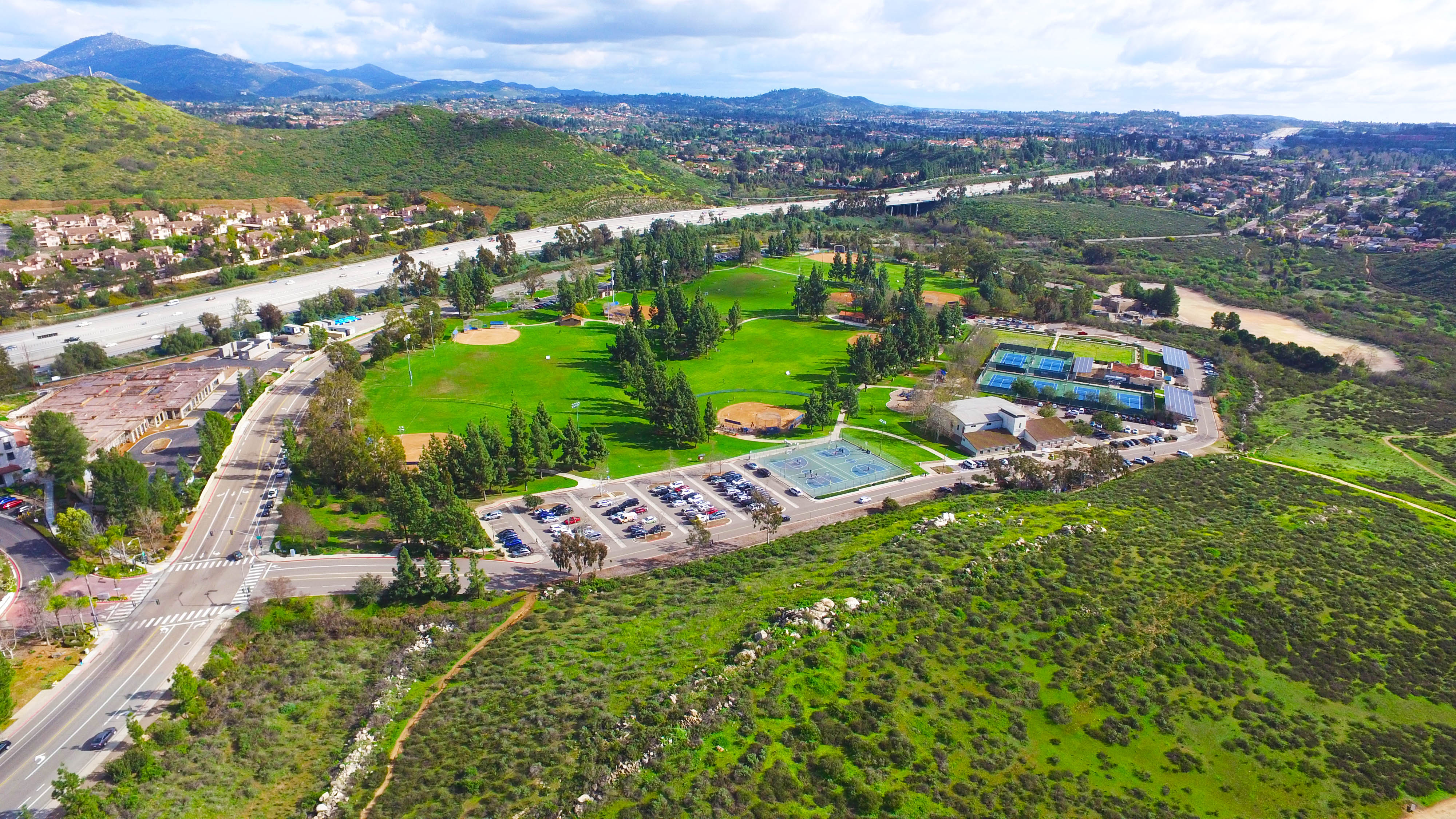 Park in San Diego California Aerial Photography