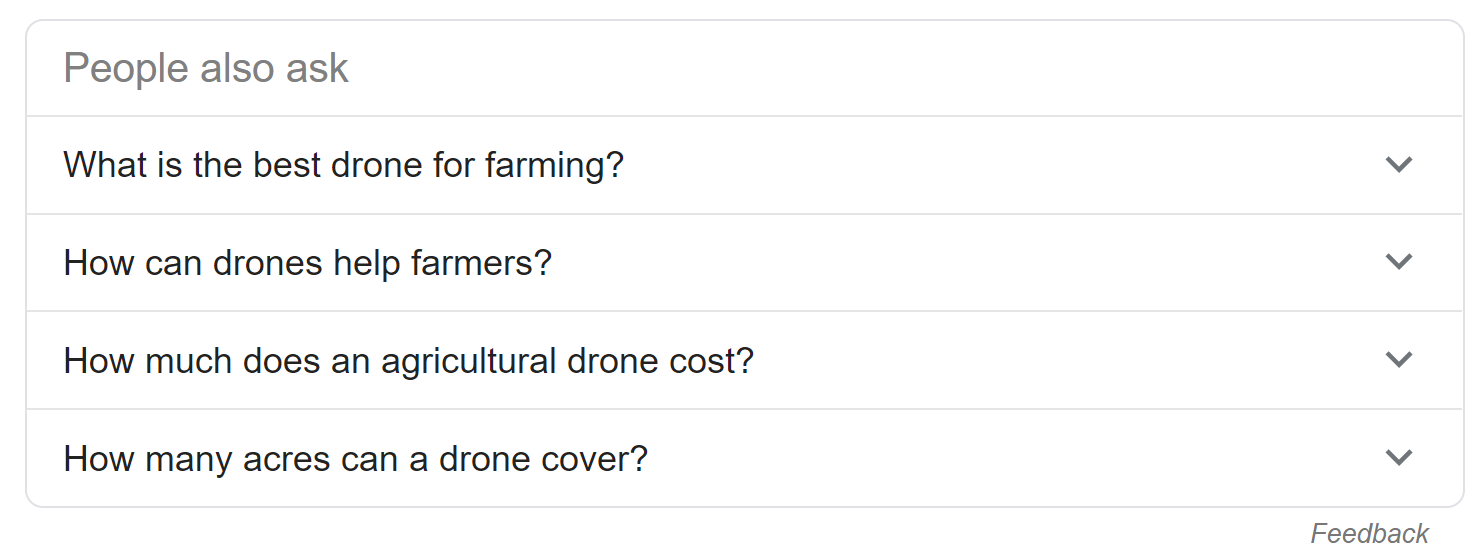 PAA Drones for Farming